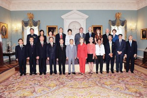 Secretary Hillary Clinton & State Councilor Dai Bingguo with the Strategic Track delegation, July 28, 2009 (White House Photo/Public Domain)