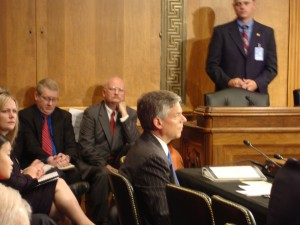 Gov. Jon Huntsman at his confirmation hearing, July 23, 2009