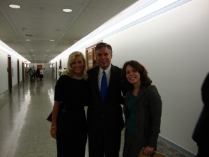 Gov. Huntsman, his wife and the author (on the right) after the confirmation hearing