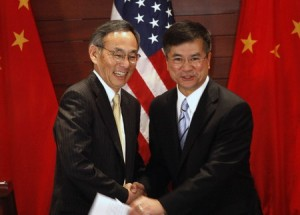 Secretaries Steven Chu and Gary Locke in Beijing