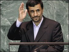 Iranian President, Mahmoud Ahmadinejad at last week's U.N. Security Council