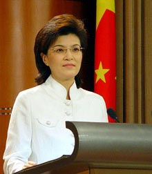 Chinese Foreign Ministry Spokeswoman Jiang Yu