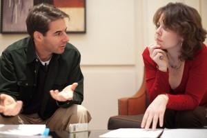 Elizabeth Lynch interviewing Peter Hessler; Photo Credit: Robert Burnett of www.rburnettjr.com
