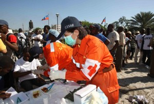 Chinese Aid Workers in Haiti