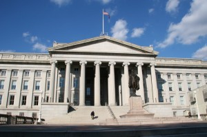 The U.S. Treasury - preparing its April 15 report