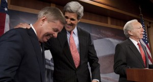 In Happier Times - Senators Graham, Kerry & Lieberman