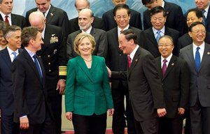 Only a handful of the 200 U..S. officials at today's Strategic & Economic Dialogue in Beijing