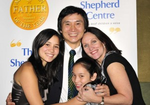 The real Li Cunxin with his wife and two daughters. All live in Australia.