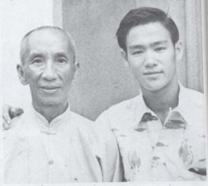 Ip Man with his most famous student, Bruce Lee