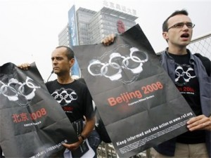 Protesting the Beijing Olympics