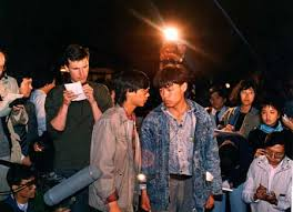 John Pomfret reporting from Tiananmen during the 1989 protests