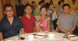 A New Citizen Dinner - From left to right: Guo Feixiong, Yang Zili, Xiao Guozhen, and Xu Zhiyong in a dinner gathering in Beijing. Photo Courtesy of Chinachange.org