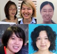 Clockwise from top left: Zheng Churan, Li Tingting, Wang Man, Wu Rongrong, and Wei Tingting