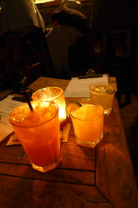 Baijiu cocktails @ Capital Spirits - the Hutong Hound, the Ma-la Rita, and the Pineapple Express
