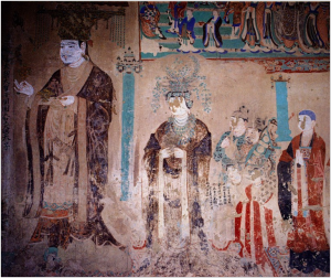 Mogao Cave #98, King of Khotan and retinue (c.920)
