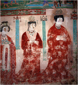 Mogao Cave #98, Uighur retinue