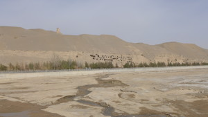 The Dunhuang Mogao Caves from Afar