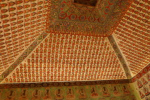 How did all those tiny Buddhas get to the ceiling? The Getty explains
